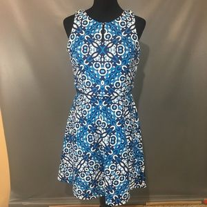 Taylor Mock Crop Dress Blue Sleeveless Size 6